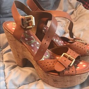 Cork heel Sam Edelman Sandals